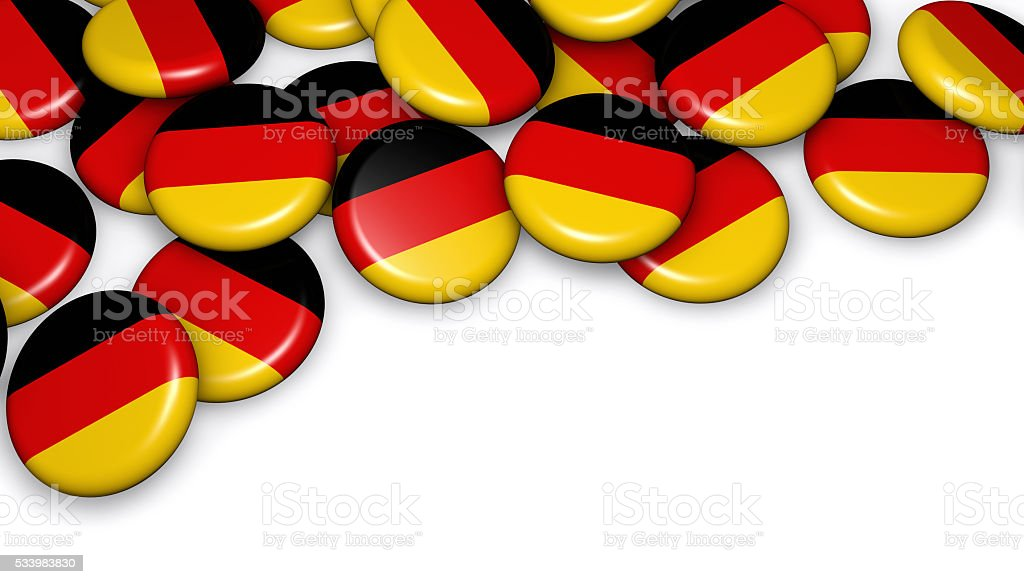 German Flag On Buttons Badges stock photo