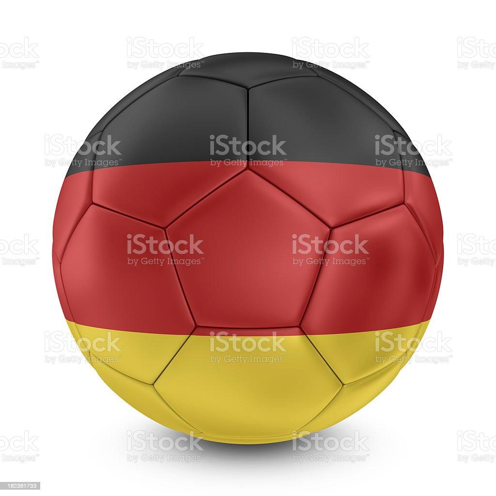 german flag on football royalty-free stock photo