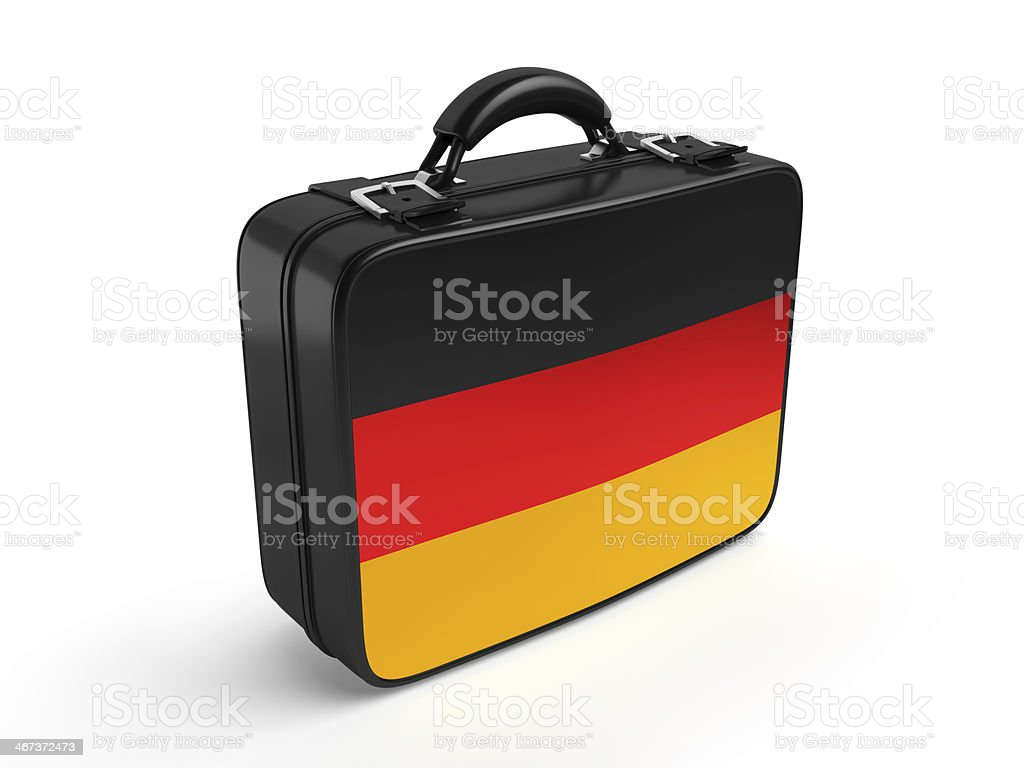 German flag on suitcase royalty-free stock photo