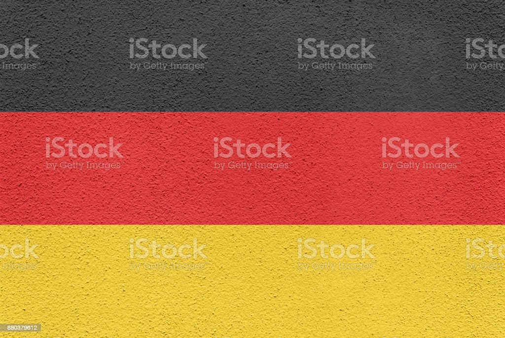 German Flag Painted on an Exterior Wall stock photo