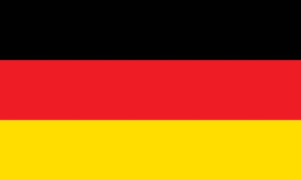 German Flag (Official Colors) stock photo