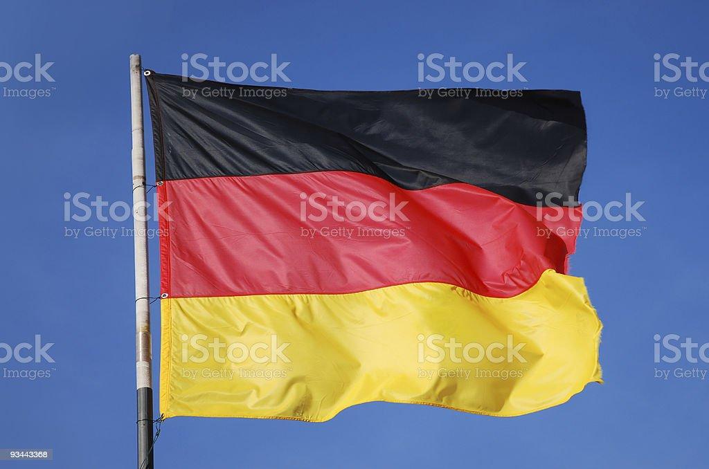 Deutsche Flagge Lizenzfreies stock-foto