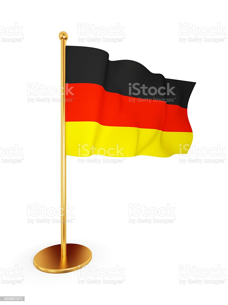German flag waving on a wind. royalty-free stock photo