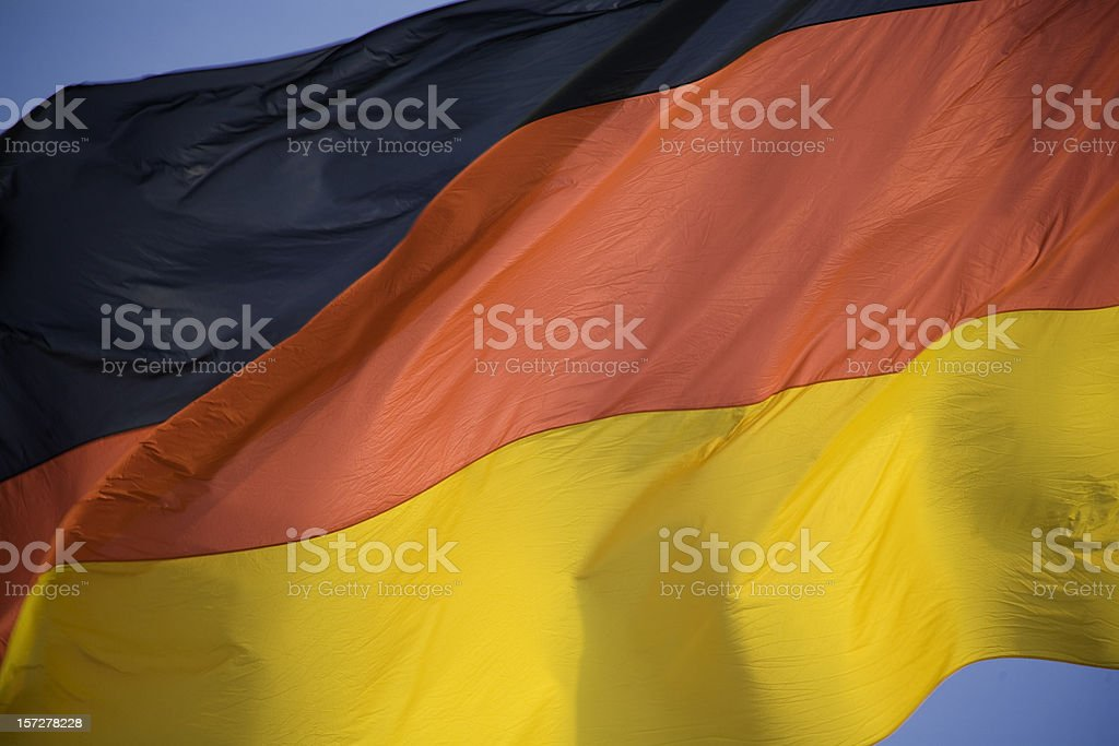 German Flag waving stock photo
