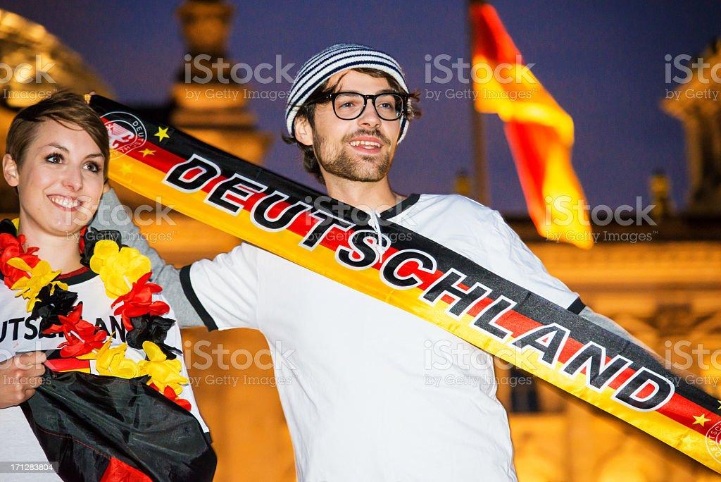 German football fans stock photo