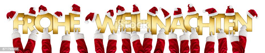 istock german frohe weihnachten merry christmas santa claus hands gold letters 871793998