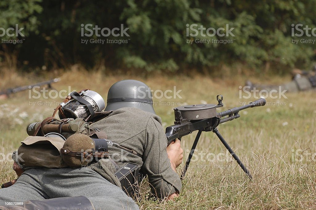 German gunner of WW2 stock photo