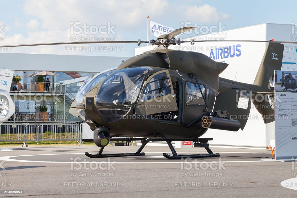 german H145M helicopter from airbus on the ILA stock photo
