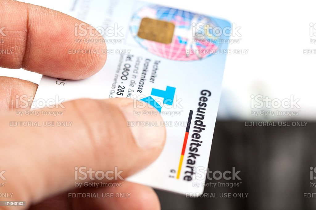 German Health Insurance Card - Gesundheitskarte stock photo