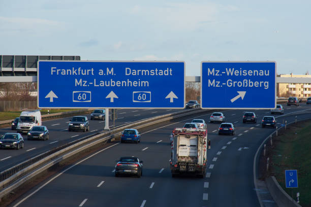 German Highway A 60 stock photo