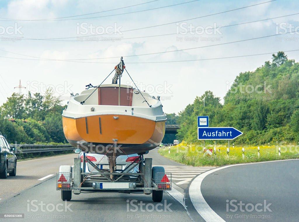 German highway exit (ausfahrt) stock photo