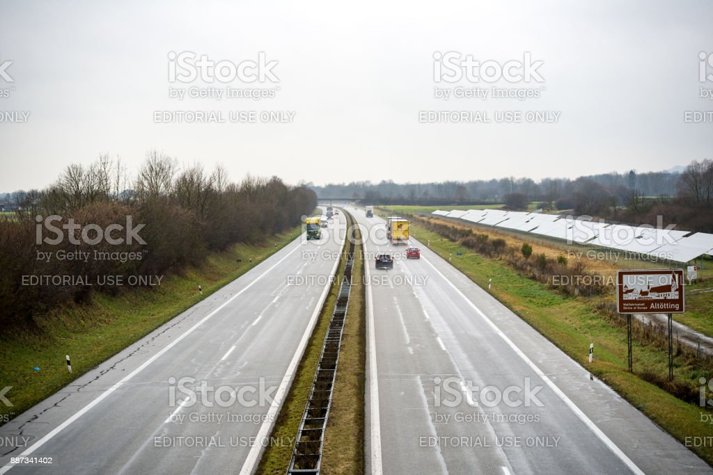 German highway stock photo