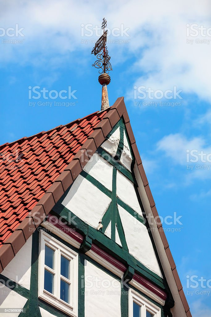 German historical timber-frame houses of Celle, Lower Saxony stock photo