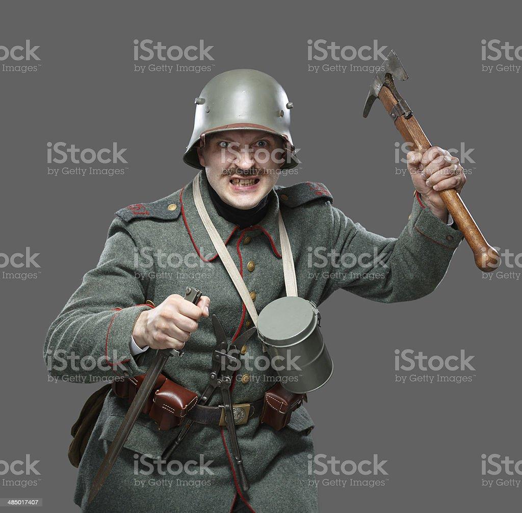 Tedesco Infantryman Durante La Prima Guerra Mondiale Fotografie Stock E Altre Immagini Di Accetta Istock