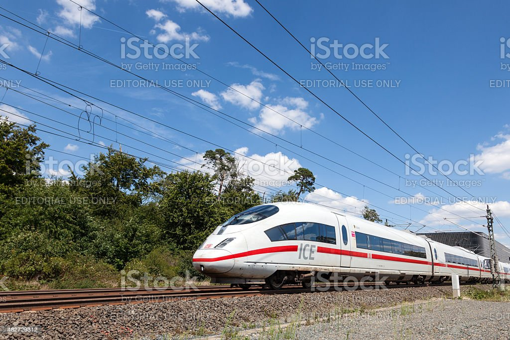 German Inter City Express Train stock photo