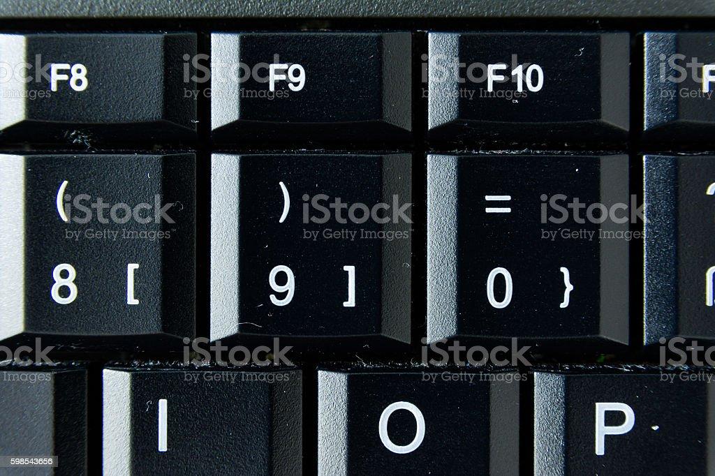 German Keyboard Button White Black Macro Letters Numbers photo libre de droits
