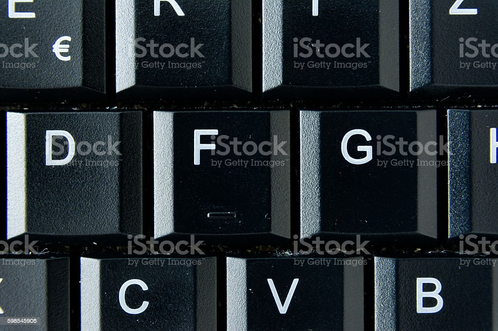 G German Keyboard Button White Black Macro Letters Numbers photo libre de droits