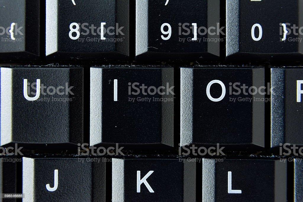 O German Keyboard Button White Black Macro Letters Numbers photo libre de droits
