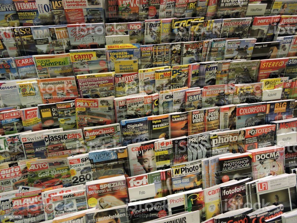 German Magazines stock photo