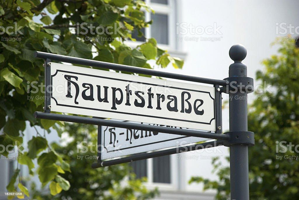 German main street sign royalty-free stock photo
