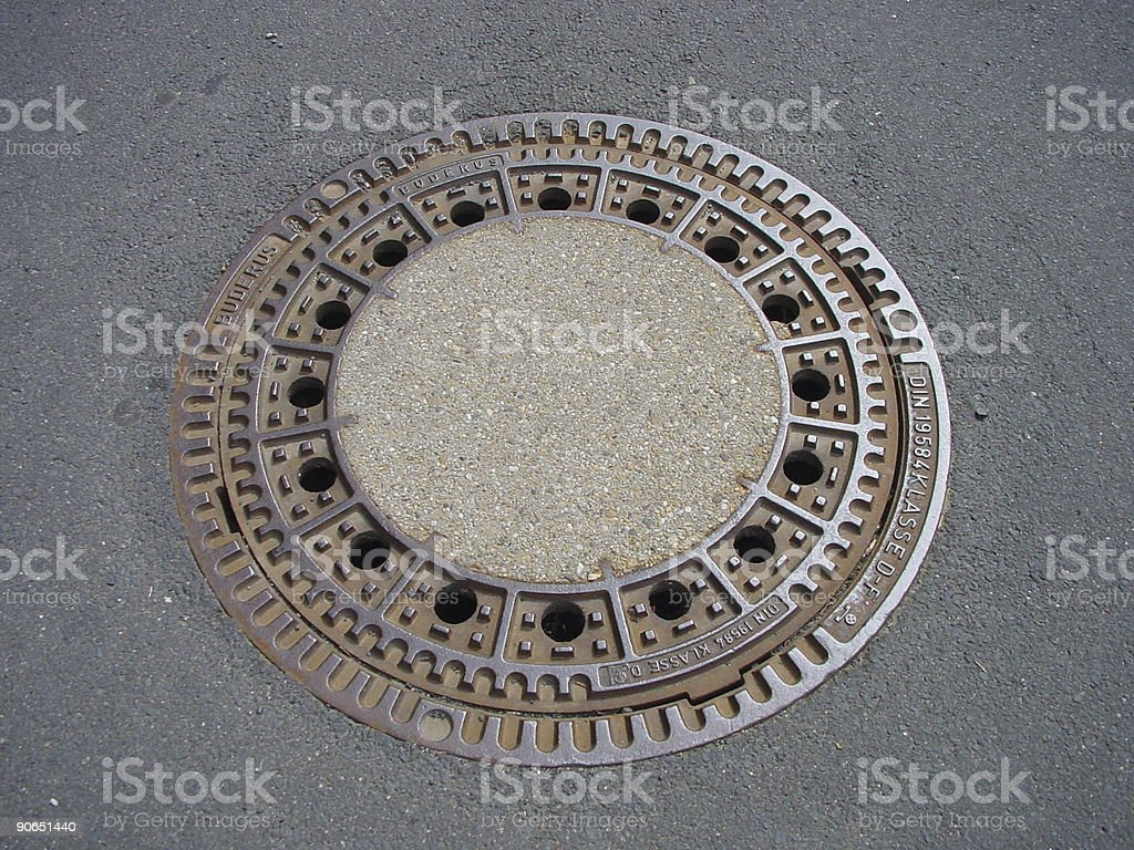 german manhole royalty-free stock photo
