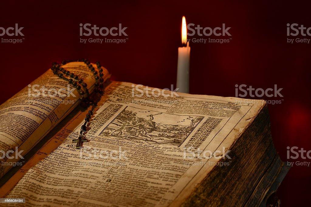 German Martin Luther Bible Circa 1702 stock photo