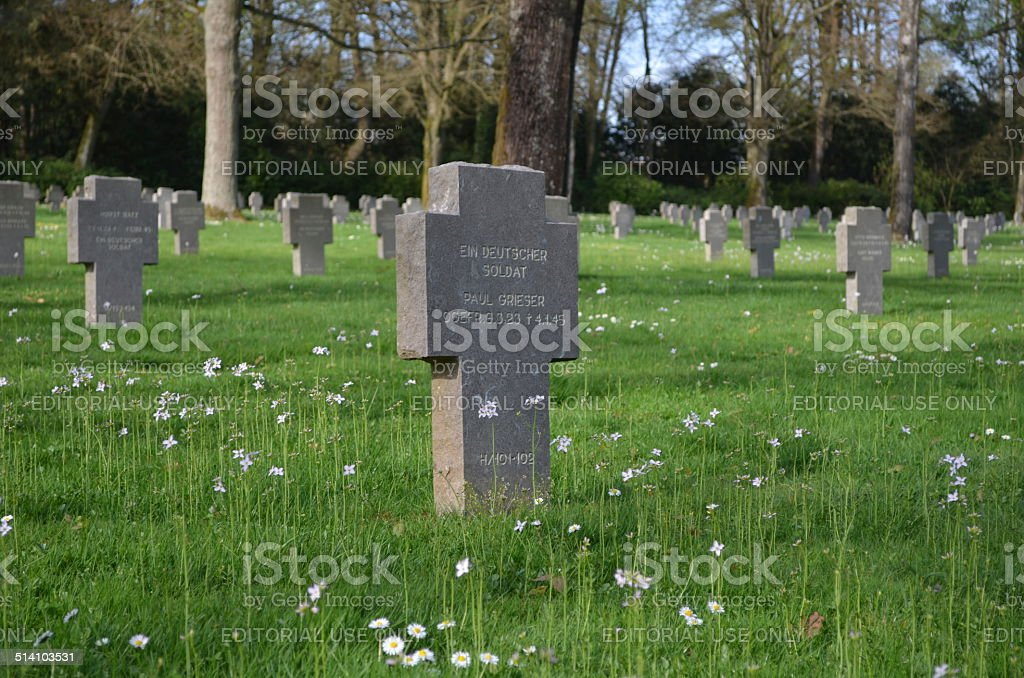 German military cemetery situated next to luxembourg city. stock photo