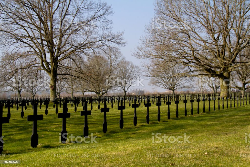 German military cimetery of Malmaison stock photo