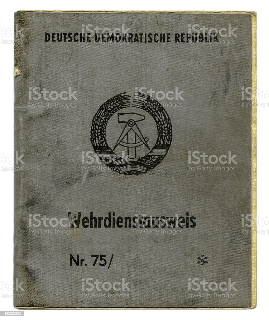 German (GDR) Military ID royalty-free stock photo