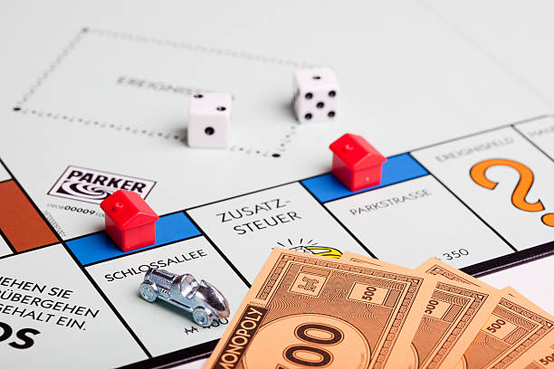 German Monopoly board: Schlossallee stock photo
