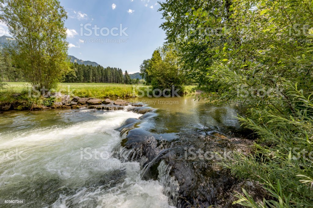 German mountain stream stock photo