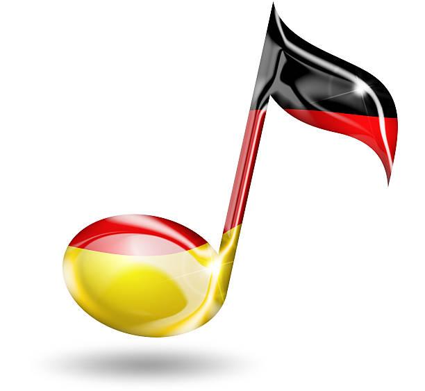 música alemão - desenhos de notas musicais - fotografias e filmes do acervo