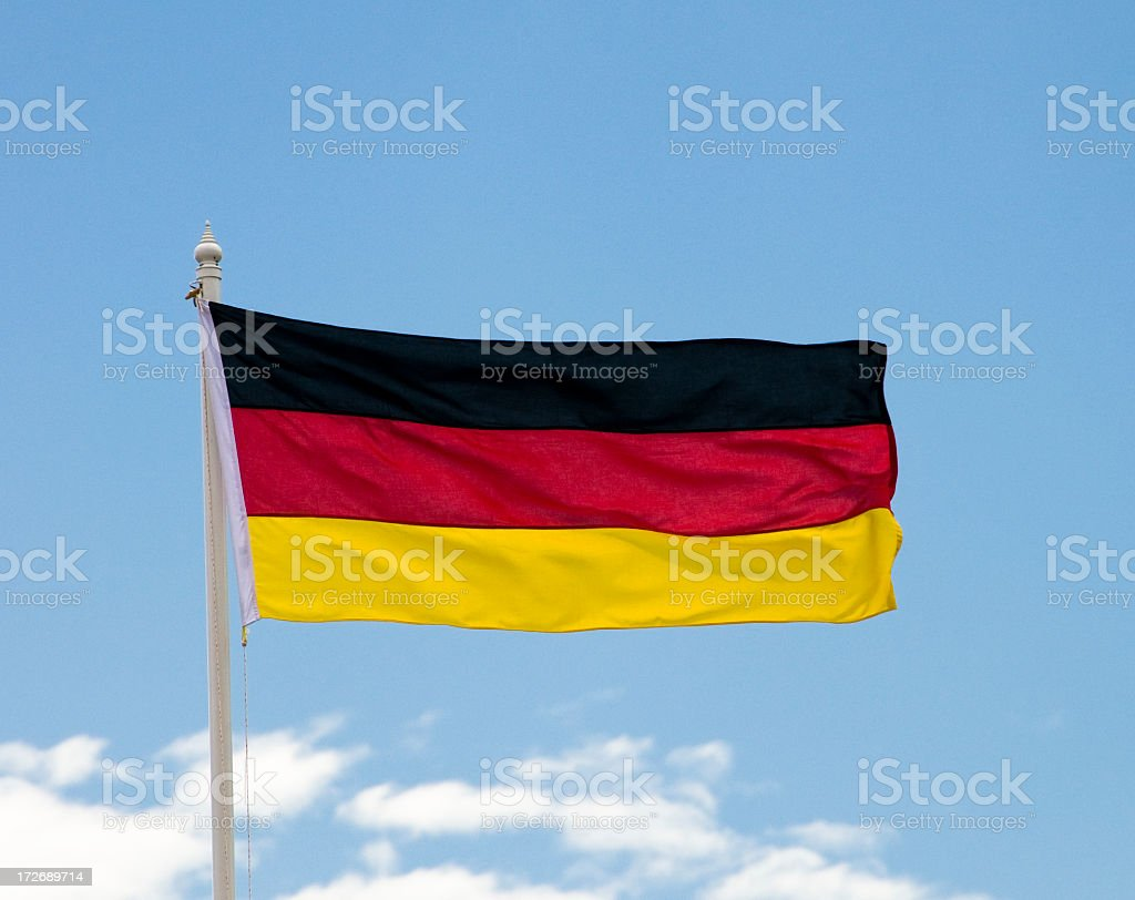 German National Flag royalty-free stock photo