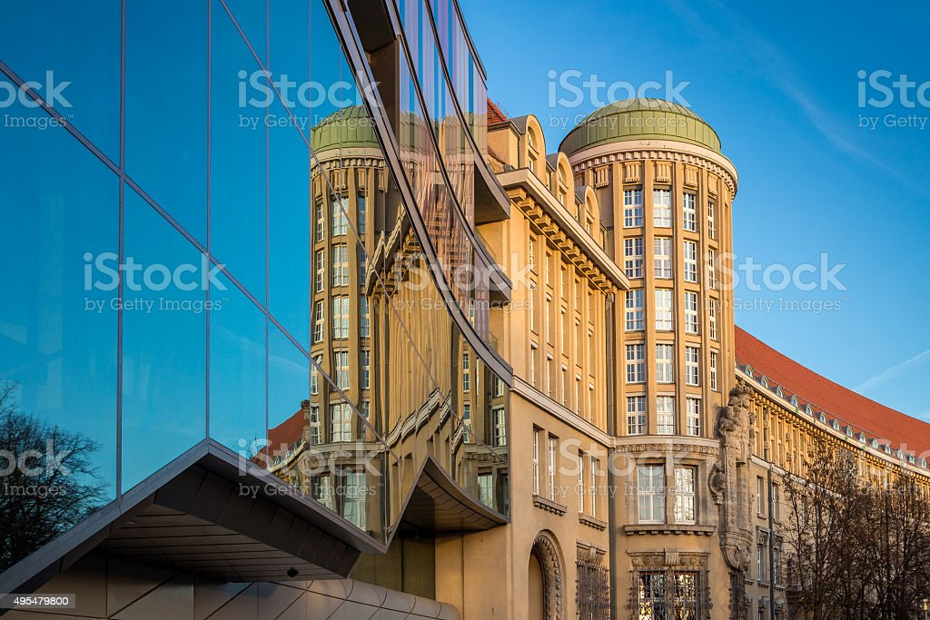 German National Library Leipzig stock photo