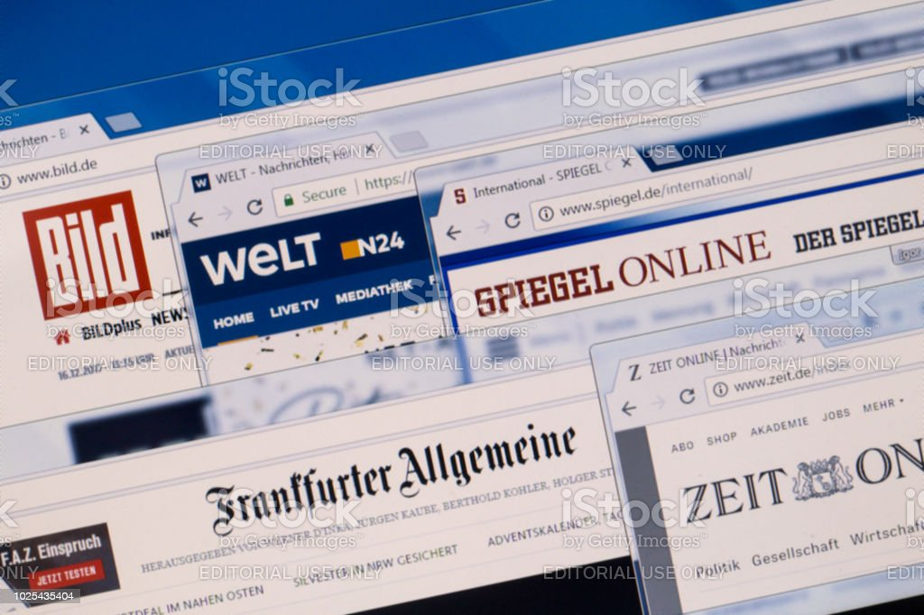 German news stock photo