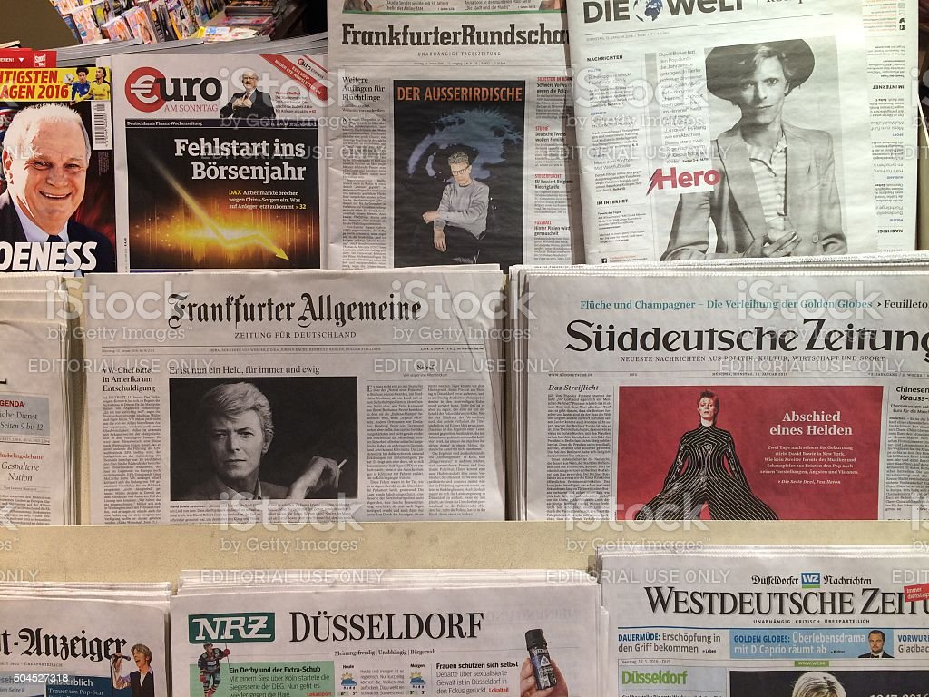 German newspapers stock photo