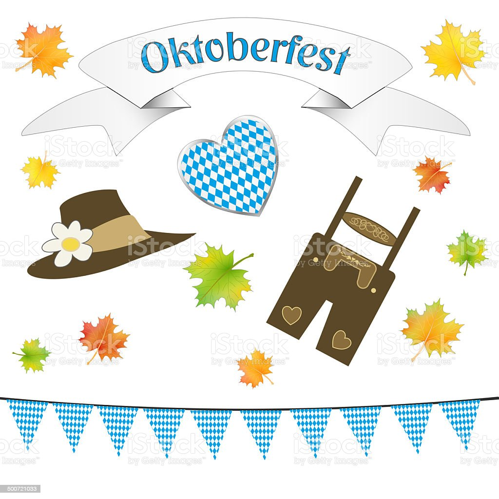 German October Party Symbols Isolated Stock Photo More Pictures Of