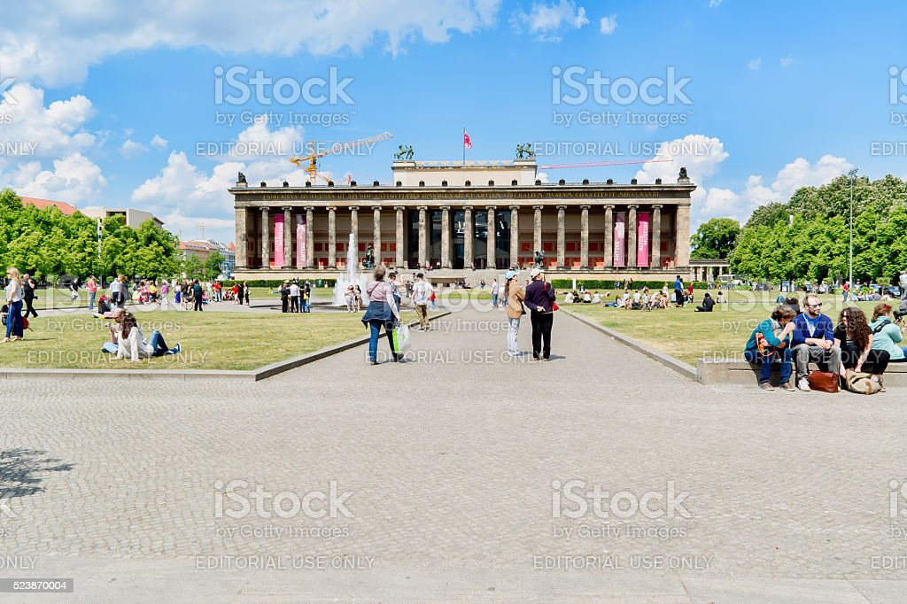 German Old Museum on sunny day. stock photo