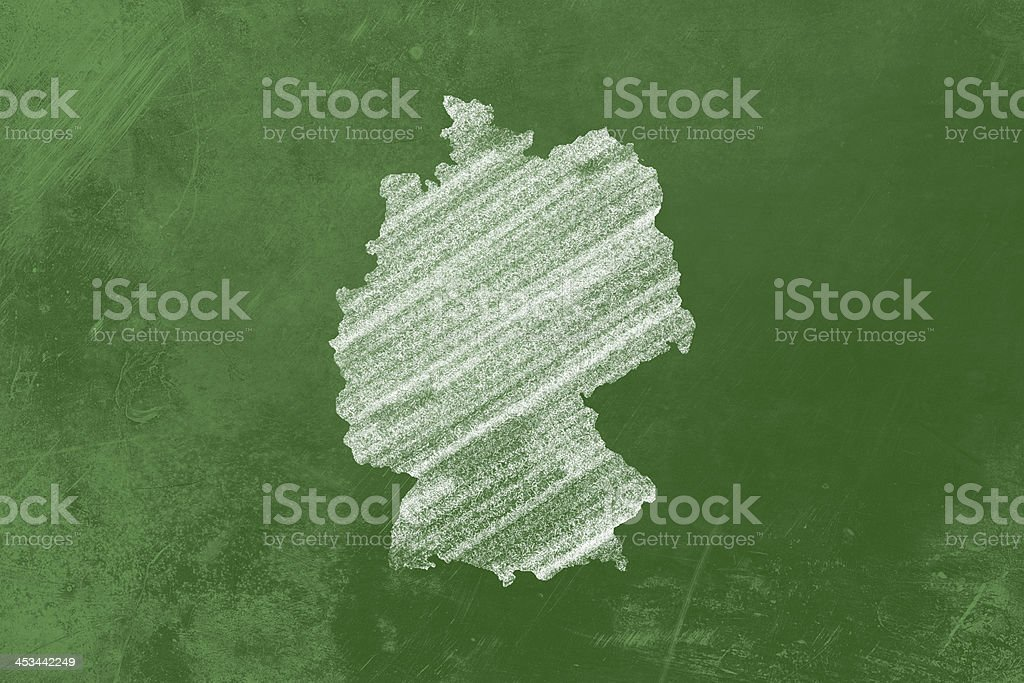 German on a Blackboard royalty-free stock photo