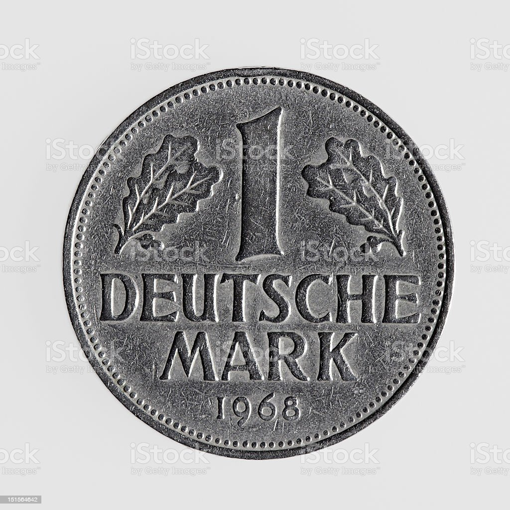 German one mark coin royalty-free stock photo