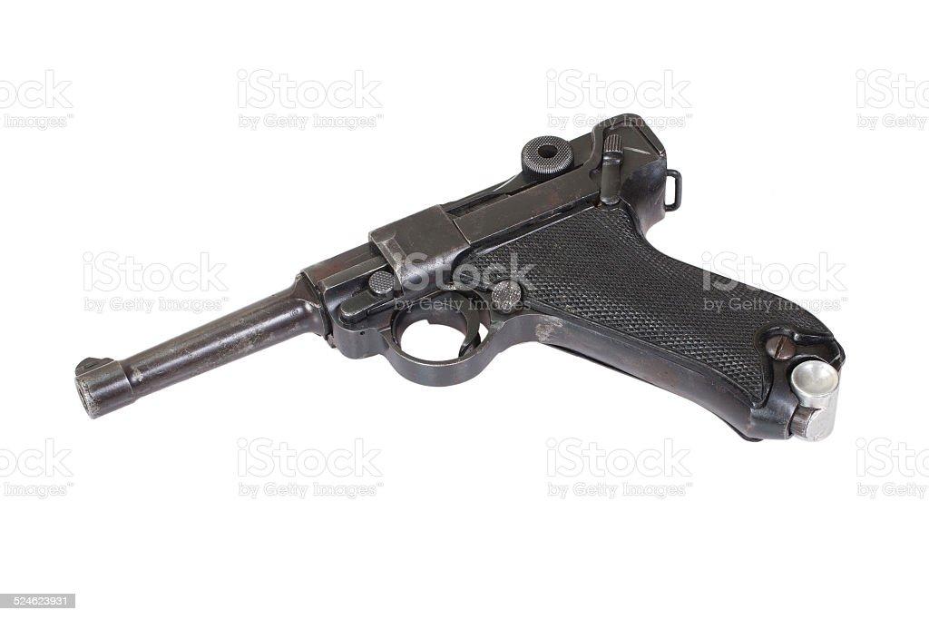 German Parabellum handgun isolated stock photo