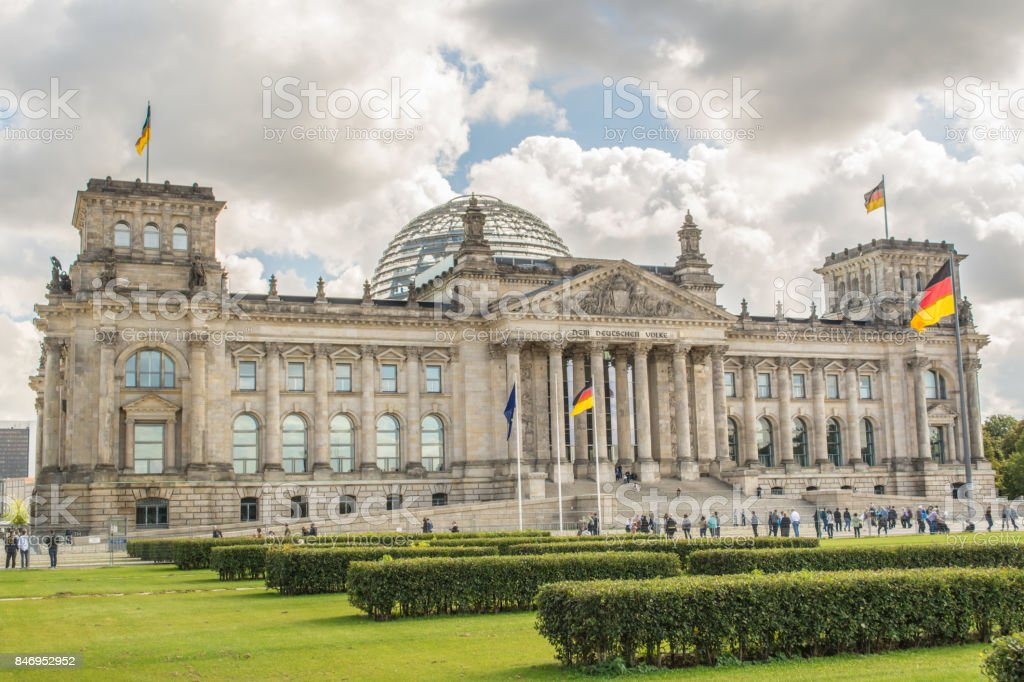 German parliament building (Reichstag) in Berlin, Germany stock photo