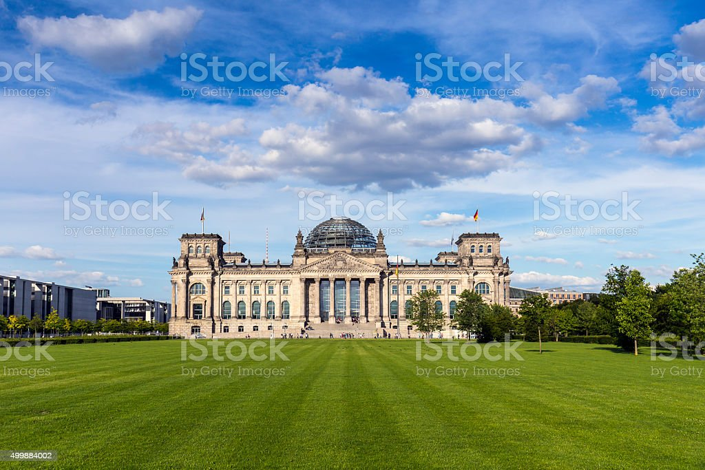 German parliament (Reichstag) building in Berlin stock photo