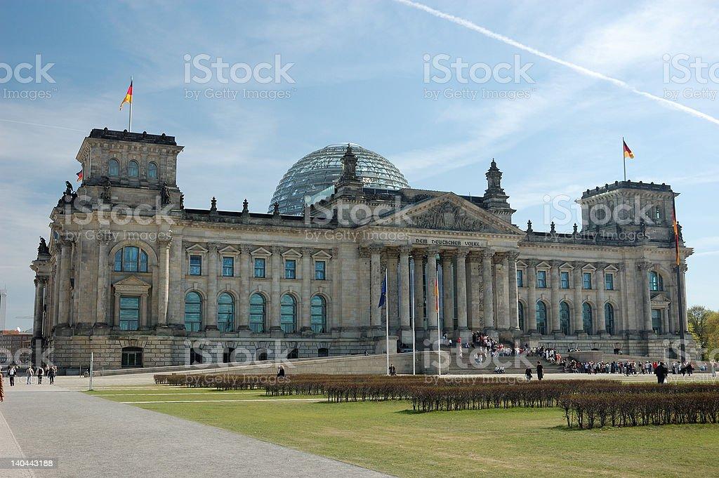German Parliament Building stock photo