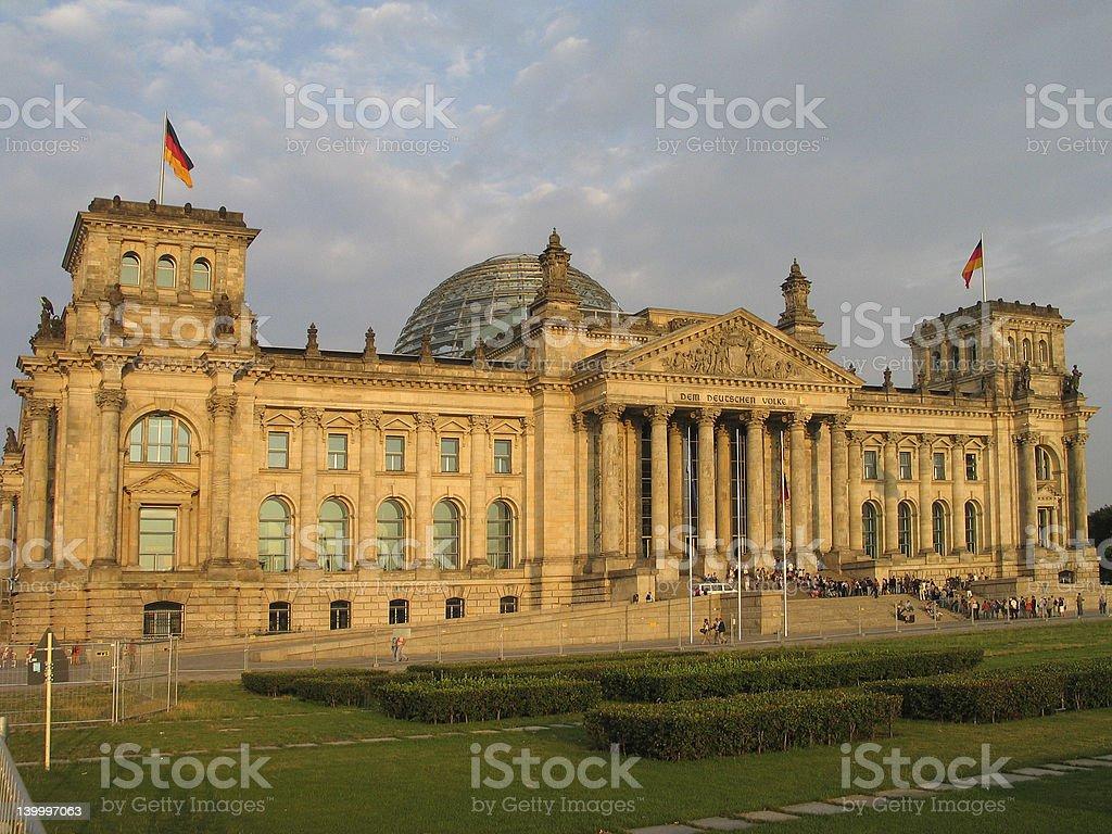 German parliament stock photo