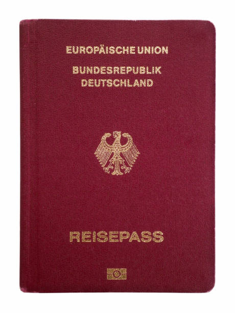 german passport isolated on a white background - german culture stock pictures, royalty-free photos & images