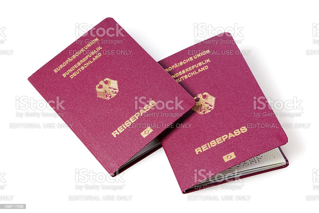 German passports royalty-free stock photo