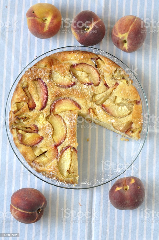 German Peach Pie royalty-free stock photo
