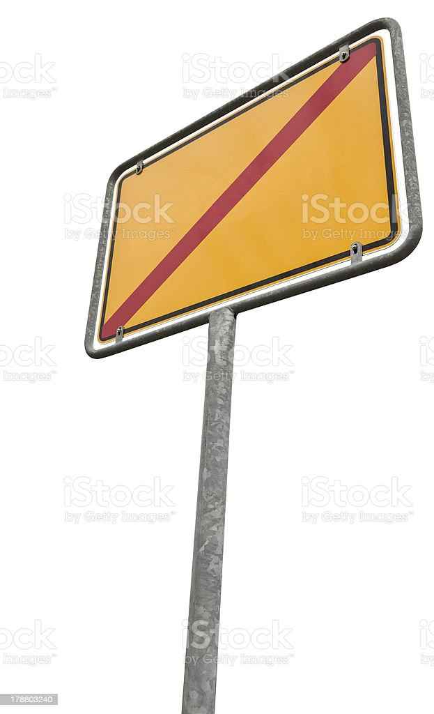 german placement sign with copy space  (clipping path included) royalty-free stock photo
