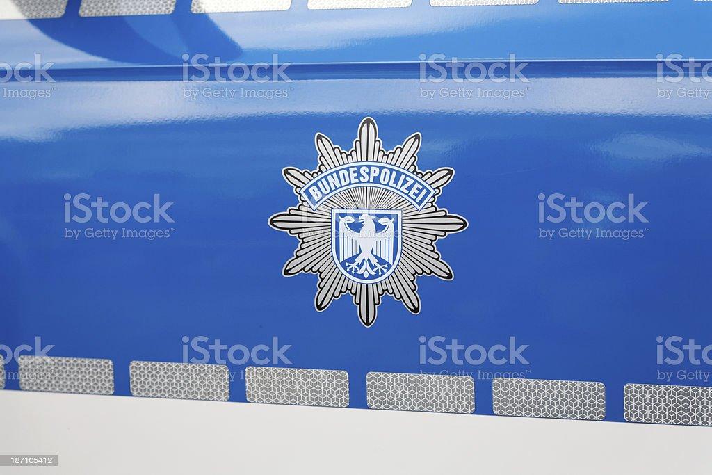 german police car - Bundespolizei royalty-free stock photo